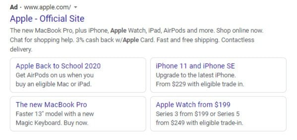 Google AdWords Results